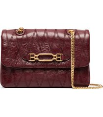 bally diamond-stiched crossbody bag - red
