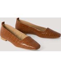 na-kd shoes squared toe ballerinas - brown