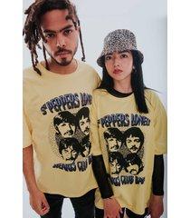 camiseta beatles amarillo rockgota  unisex oversize sgt peppers unisex oversize