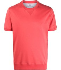 brunello cucinelli short-sleeve sweatshirt - red