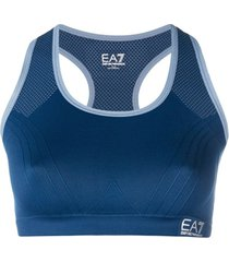 ea7 emporio armani top esportivo - azul