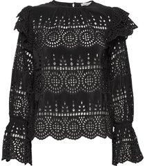 marta blouse blouse lange mouwen zwart by malina