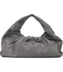 bottega veneta the shoulder pouch maxi bag - grey