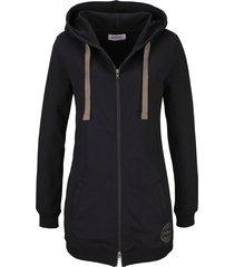 giacca lunga in felpa (nero) - john baner jeanswear