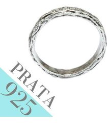 anel de prata kumbayá joias textura de madeira