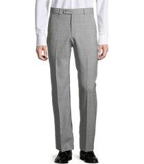 saks fifth avenue men's standard-fit textured wool pants - light grey - size 38