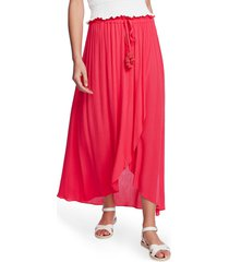 women's 1.state wrap front crinkle gauze maxi skirt
