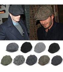 gentleman octagonal cap newsboy beret hat for men's male models flat cap driving