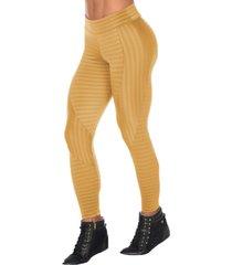 calça fitness dily modas legging recorte new zig 516 dourado