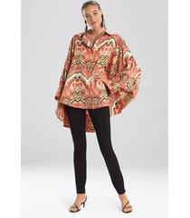 natori suzani batwing blouse, women's, size l/xl