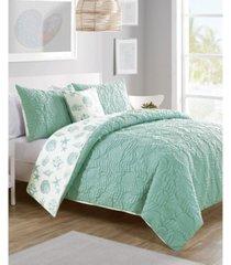 beach island 4-pc. full/queen reversible duvet cover set bedding