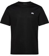 jordan logo patch t-shirt t-shirts short-sleeved svart j. lindeberg