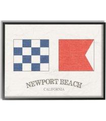 """stupell industries newport beach nautical flags framed giclee art, 16"""" x 20"""""""