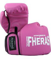 luva boxe muay thai fheras new trade rosa 14 oz