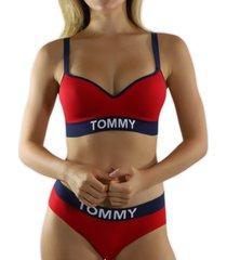 tommy hilfiger women's lightly lined bralette r70t156