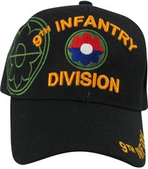 us warriors u.s. army 9th infantry division baseball hat one size black