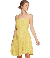 vestido amarillo gap mini yellow floral
