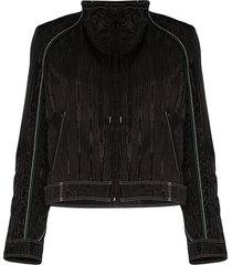 marine serre cropped boxy-fit jacket - black