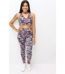 top com estampa sublimada camuflado multicolorido - kanui