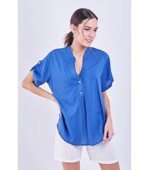 blusa azul donadonna gian