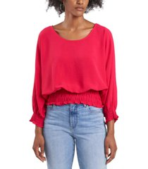 vince camuto crinkle smocked top