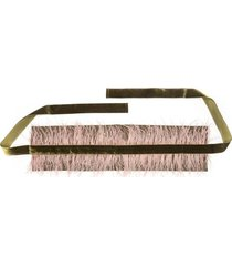 stretch twill belt with feathers, women's, pink, josie natori