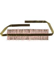 stretch twill belt with feathers, women's, pink, josie natori