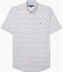 tommy hilfiger adaptive men's classic-fit kove floral shirt with magnetic buttons
