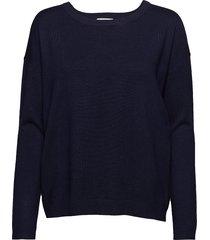 elne knit gebreide trui blauw minus