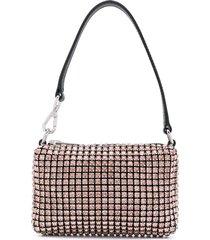 alexander wang wangloc rhinestone mini pouch - pink