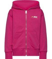 salbyzip over sweat-shirt hoodie trui roze diesel