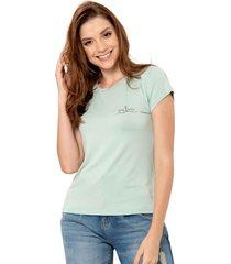 camiseta barco verde ragged pf51120506