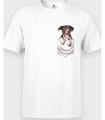 koszulka piesek w kieszeni