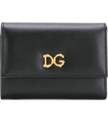 dolce & gabbana dg folding wallet - black