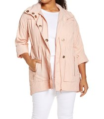 adyson parker full zip jacket, size 1x in venetian pink at nordstrom