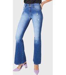 jeans flare high waist azul amalia jeans