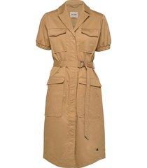 sierra cole dress knälång klänning beige mos mosh