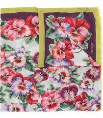 dolce & gabbana violet print scarf - multicolour