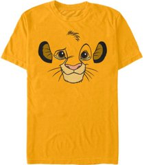 disney men's lion king simba big face costume short sleeve t-shirt