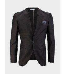 blazer slim fit con textura para hombre 90733