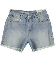 shorts feminino crawling jeans c/strass