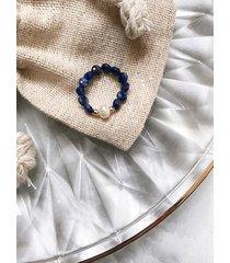 pierścionek elastyczny - lapis lazuli