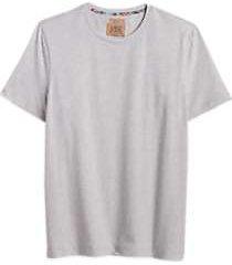 joe joseph abboud heathered beige crew neck neck slim fit t-shirt