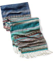 blue ridge jacquard scarf