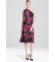 delphine dress, women's, black, silk, size 6, josie natori