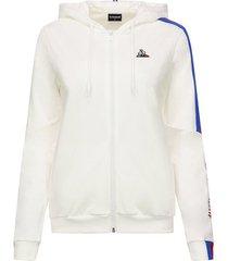sweater le coq sportif tricolore full zip hoody