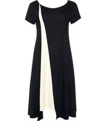korte jurk lisca zomerjurk korte mouwen zwart guaraja