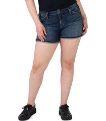 silver jeans co. trendy plus size suki denim shorts