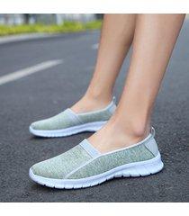 scarpe casual piatte traspiranti a fascia di grandi dimensioni