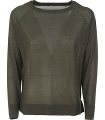 aspesi ribbed plain sweatshirt